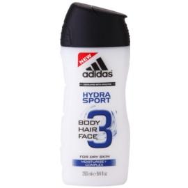 Adidas 3 Hydra Sport sprchový gel pro muže 250 ml