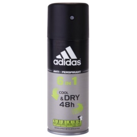 Adidas 6 in 1 Cool & Dry Deo-Spray für Herren 150 ml