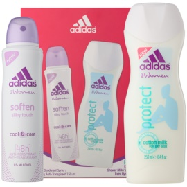 Adidas Soften Cool & Care dárková sada I. deodorant ve spreji 150 ml + sprchový gel 250 ml