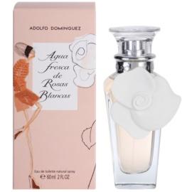 Adolfo Dominguez Agua Fresca de Rosas Blancas Eau de Toilette pentru femei 60 ml
