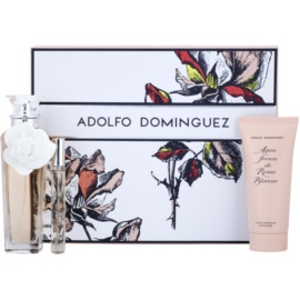 Adolfo Dominguez Agua Fresca de Rosas Blancas dárková sada I. toaletní voda 120 ml + toaletní voda 10 ml + tělové mléko 100 ml