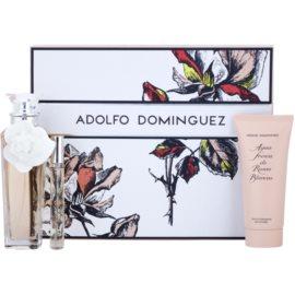 Adolfo Dominguez Agua Fresca de Rosas Blancas lote de regalo I.  eau de toilette 120 ml + eau de toilette 10 ml + leche corporal 100 ml