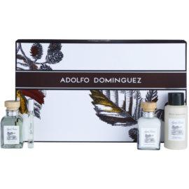 Adolfo Dominguez Agua Fresca for Men coffret VII.  Eau de Toilette 120 ml + Eau de Toilette 10 ml + desodorizante em spray 150 ml + bálsamo after shave 120 ml