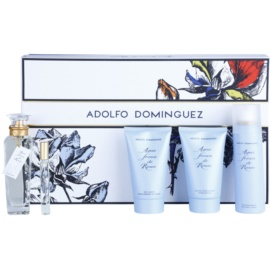 Adolfo Dominguez Agua Fresca de Rosas confezione regalo VI. eau de toilette 120 ml + eau de toilette 10 ml + gel doccia 150 ml + latte corpo 150 ml + deodorante in spray 150 ml