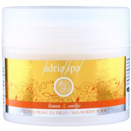 Adria-Spa Lemon & Immortelle regenerační peeling na tělo  150 ml