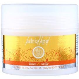 Adria-Spa Lemon & Immortelle regeneračný peeling na telo  150 ml