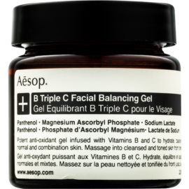 Aésop B Triple C Facila Balancing Gel antioxidáns arcgél vitaminokkal  60 ml