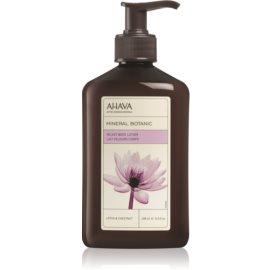 Ahava Mineral Botanic Lotus & Chestnut svilnati losjon za telo lotos in kostanj  400 ml