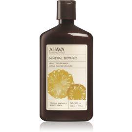 Ahava Mineral Botanic Tropical Pineapple & White Peach žametna krema za prhanje tropski ananas in bela breskev  500 ml
