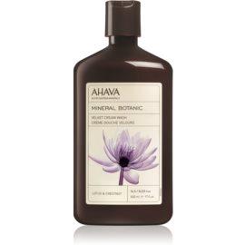 Ahava Mineral Botanic Lotus & Chestnut žametna krema za prhanje lotos in kostanj  500 ml