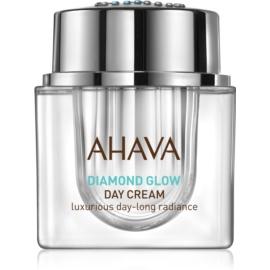Ahava Diamond Glow luxusní denní krém s čistým diamantovým prachem pro rozjasnění a vyhlazení pleti  50 ml