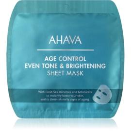 Ahava Time To Smooth maska rozświetlająca w płacie przeciw zmarszczkom  1 szt.