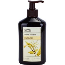 Ahava Mineral Botanic Honeysuckle & Lavender sametové tělové mléko zimolez a levandule  400 ml