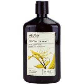 Ahava Mineral Botanic Honeysuckle & Lavender sametový sprchový krém zimolez a levandule  500 ml