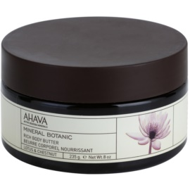 Ahava Mineral Botanic Lotus & Chestnut vyživujúce telové maslo lotos a gaštan  235 g