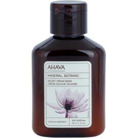 Ahava Mineral Botanic Lotus & Chestnut sametový sprchový krém lotos a kaštan  85 ml