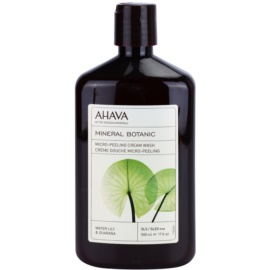 Ahava Mineral Botanic Water Lily & Guarana jemný exfoliační mycí gel vodní leknín a guarana  500 ml