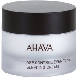 Ahava Time To Smooth aufhellende Nachtcreme gegen die ersten Anzeichen von Hautalterung  50 ml