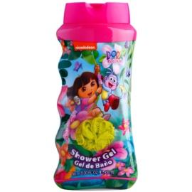 Air Val Dora The Explorer żel pod prysznic dla dzieci 450 ml + gąbka do mycia