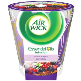 Air Wick Essential Oil Deco - Berries & Spice vonná svíčka 105 g