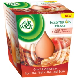 Air Wick Essential Oil Sugar Apple & Warm Cinnamon ароматизована свічка  105 гр