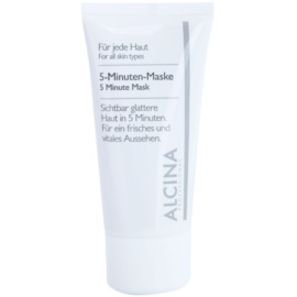 Alcina For All Skin Types mascarilla de 5 minutos para una piel de aspecto más fresco y juvenil  50 ml