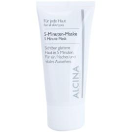 Alcina For All Skin Types mascarilla de 5 minutos para una piel de aspecto más fresco y juvenil  50 ml