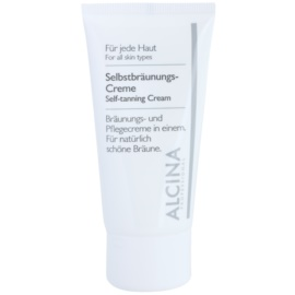Alcina For All Skin Types creme autobronzeador para rosto  50 ml