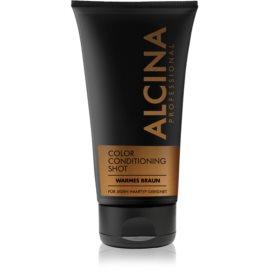 Alcina Color Conditioning Shot Brown tönendes Balsam für eine leuchtendere Haarfarbe Farbton Warm Brown 150 ml