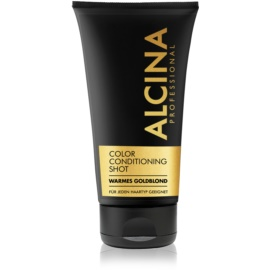 Alcina Color Conditioning Shot Gold balzam za toniranje za naglašavanje boje kose nijansa Warm Gold Blond 150 ml