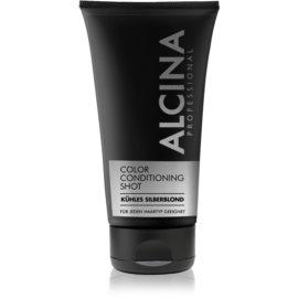 Alcina Color Conditioning Shot Silver baume teinté pour souligner la couleur de cheveux teinte Cold Silver Blond 150 ml