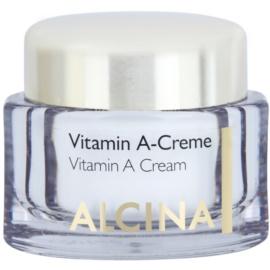 Alcina Effective Care arckrém A vitaminnal a hosszú távú ráncok csökkentésére  50 ml
