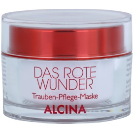 Alcina The Red Miracle výživná pleťová maska s hroznovým extraktem  100 ml