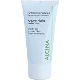 Alcina For Oily Skin Kräutermaske gegen ein glänzendes Gesicht und erweiterte Poren  50 ml