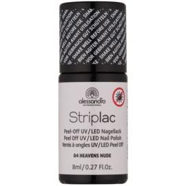Alessandro Striplac Peel-Off UV/LED-Lack für die Fingernägel Farbton 04 Heavens Nude 8 ml