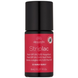 Alessandro Striplac Peel-Off UV/LED Nail Varnish Shade 33 Hurly Burly 8 ml