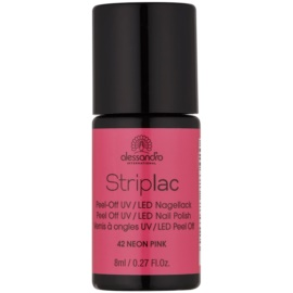 Alessandro Striplac Peel-Off UV/LED Nail Varnish Shade 42 Neon Pink 8 ml