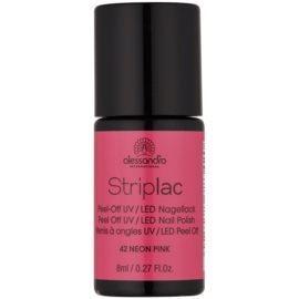 Alessandro Striplac Peel-Off UV/LED-Lack für die Fingernägel Farbton 42 Neon Pink 8 ml