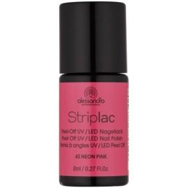 Alessandro Striplac vernis à ongles UV/LED peel-off teinte 42 Neon Pink 8 ml