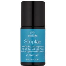 Alessandro Striplac Peel-Off UV/LED-Lack für die Fingernägel Farbton 61 Crazy Lazy 8 ml