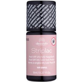 Alessandro Striplac Peel-Off UV/LED-Lack für die Fingernägel Farbton 109 Sinful 8 ml
