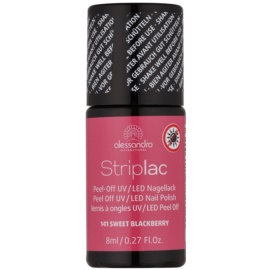 Alessandro Striplac Peel-Off UV/LED Nail Varnish Shade 141 Sweet Blackberry 8 ml