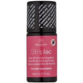 Alessandro Striplac vernis à ongles UV/LED peel-off teinte 141 Sweet Blackberry 8 ml