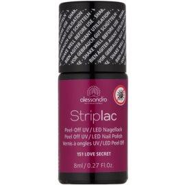 Alessandro Striplac Peel-Off UV/LED-Lack für die Fingernägel Farbton 151 I Love Secret 8 ml