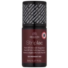 Alessandro Striplac Peel-Off UV/LED-Lack für die Fingernägel Farbton 154 Midnight Red 8 ml