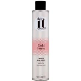 Alfaparf Milano That s it Gold Fever šampon pro teplé odstíny blond  250 ml