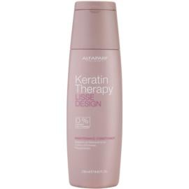 Alfaparf Milano Lisse Design Keratin Therapy tápláló kondícionáló szulfát és parabén nélkül  250 ml