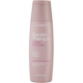 Alfaparf Milano Lisse Design Keratin Therapy sanftes Reinigungsshampoo ohne Sulfat und Parabene  250 ml