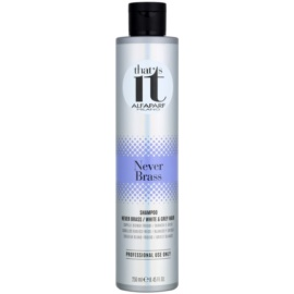 Alfaparf Milano That s it Never Brass shampoing cheveux blancs et gris à usage professionnel  250 ml