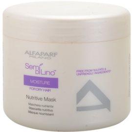 Alfaparf Milano Semí Dí Líno Moisture máscara nutritiva para cabelo seco a danificado  500 ml
